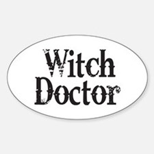 Witch Doctor Oval Decal
