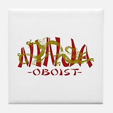 Dragon Ninja Oboist Tile Coaster