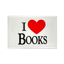I Love Books Rectangle Magnet