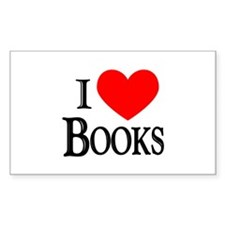 I Love Books Rectangle Decal