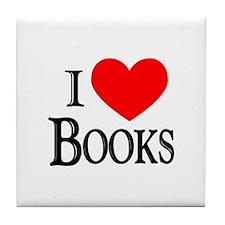 I Love Books Tile Coaster