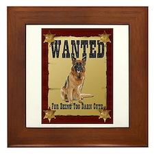 Wanted Poster Belgian Tervuren Framed Tile