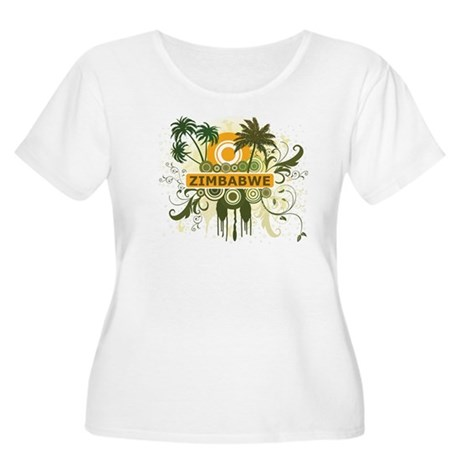 Palm Tree Zimbabwe Women's Plus Size Scoop Neck T-