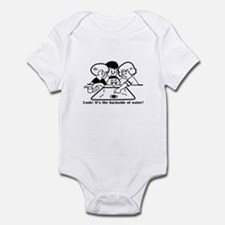 Backside of Water Infant Bodysuit