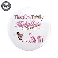"Fabulous Granny 3.5"" Button (10 pack)"