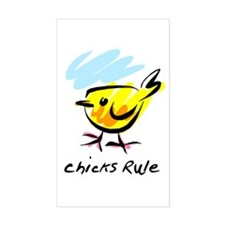 Chicks Rule Rectangle Decal