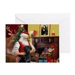 Santa's Black Lab Greeting Card