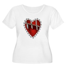Caged, Barbed Heart T-Shirt