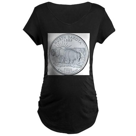 North Dakota Maternity Dark T-Shirt