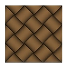 Diagonal Weave 02 Tile Coaster