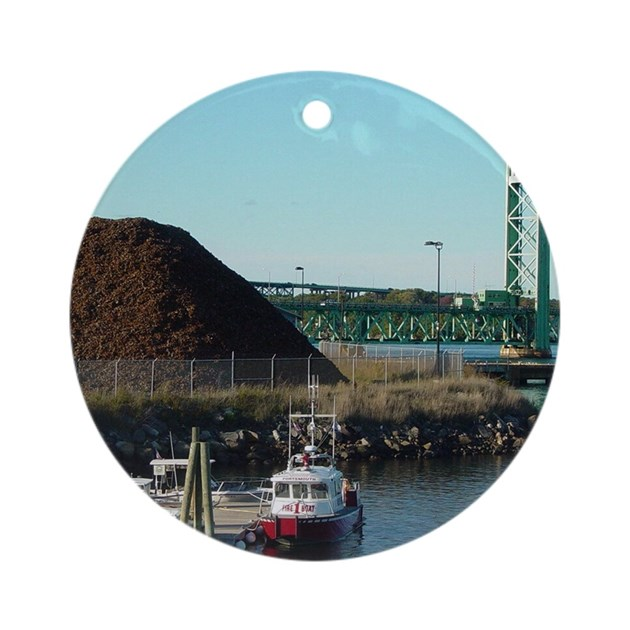Portsmouth Nh Ornament Round By Cowhampsha