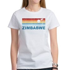 Retro Palm Tree Zimbabwe Tee