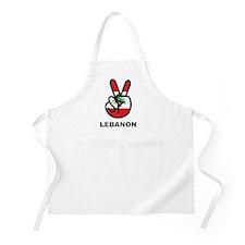 Peace In Lebanon BBQ Apron