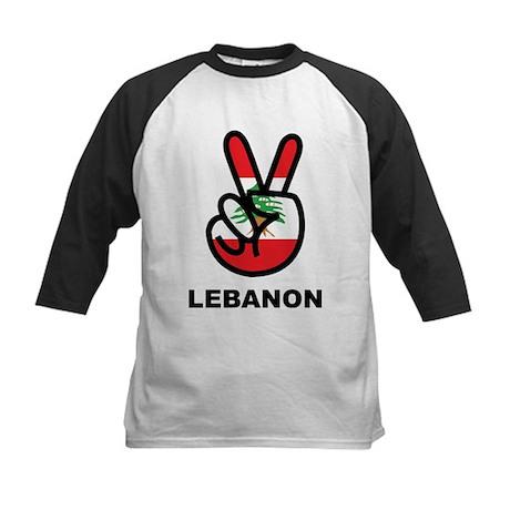 Peace In Lebanon Kids Baseball Jersey