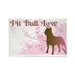 Pit Bull Love Rectangle Magnet (10 pack)