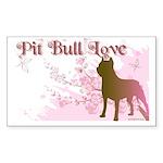 Pit Bull Love Rectangle Sticker