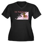 Pit Bull Love Women's Plus Size V-Neck Dark T-Shir