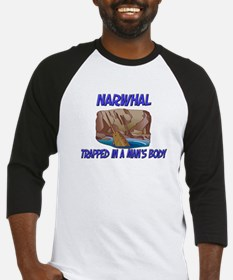 Narwhal Trapped In A Man's Body Baseball Jersey