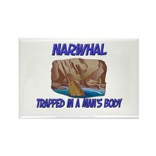 Narwhal Trapped In A Man's Body Rectangle Magnet (