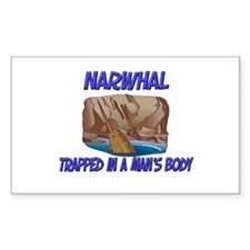 Narwhal Trapped In A Man's Body Decal