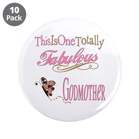 """Fabulous Godmother 3.5"""" Button (10 pack)"""