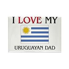 I Love My Uruguayan Dad Rectangle Magnet (10 pack)