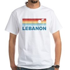 Retro Palm Tree Lebanon Shirt