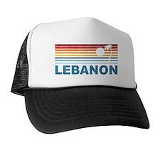 Retro Palm Tree Lebanon Trucker Hat