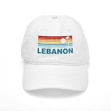 Retro Palm Tree Lebanon Baseball Cap