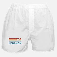 Retro Palm Tree Lebanon Boxer Shorts