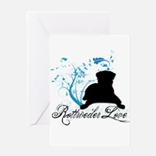 Rottweiler Love Greeting Card