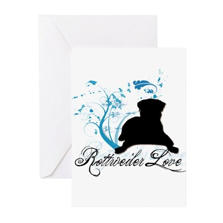 Rottweiler Love Greeting Cards (Pk of 10)