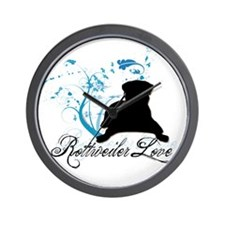 Rottweiler Love Wall Clock