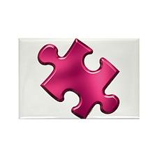 Puzzle Piece Ala Carte 1.2 (Fuchsia) Rectangle Mag