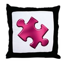 Puzzle Piece Ala Carte 1.2 (Fuchsia) Throw Pillow