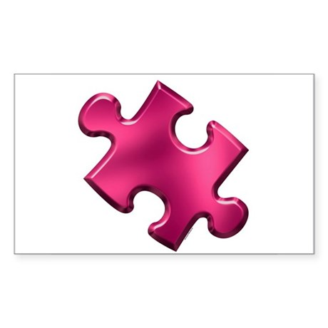 Puzzle Piece Ala Carte 1.2 (Fuchsia) Sticker (Rect
