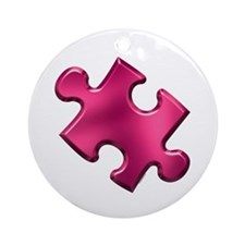 Puzzle Piece Ala Carte 1.2 (Fuchsia) Ornament (Rou