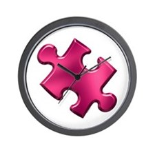 Puzzle Piece Ala Carte 1.2 (Fuchsia) Wall Clock