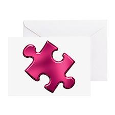 Puzzle Piece Ala Carte 1.2 (Fuchsia) Greeting Card