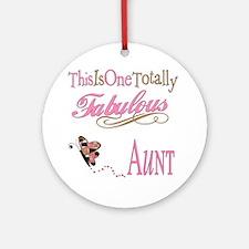Fabulous Aunt Ornament (Round)