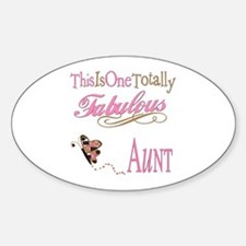 Fabulous Aunt Oval Decal