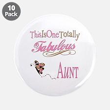 """Fabulous Aunt 3.5"""" Button (10 pack)"""
