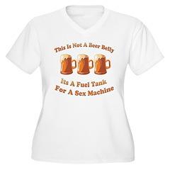Beerholder Women's Plus Size V-Neck T-Shirt