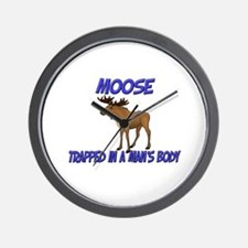 Moose Trapped In A Man's Body Wall Clock