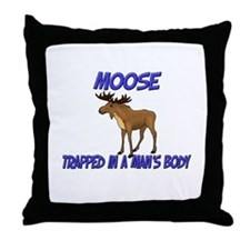 Moose Trapped In A Man's Body Throw Pillow