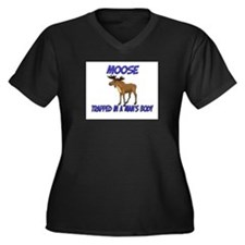Moose Trapped In A Man's Body Women's Plus Size V-