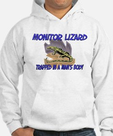 Monitor Lizard Trapped In A Man's Body Hoodie
