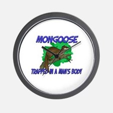 Mongoose Trapped In A Man's Body Wall Clock