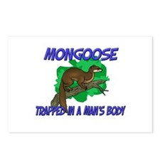 Mongoose Trapped In A Man's Body Postcards (Packag