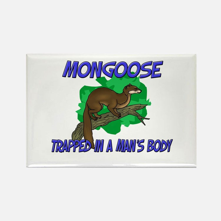 Mongoose Trapped In A Man's Body Rectangle Magnet